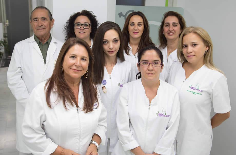 Equipo sanitario interdisciplinar de Clínica Ginegranada